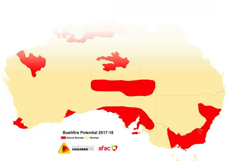 November update: Southern Australian Seasonal Bushfire Outlook 2017-18