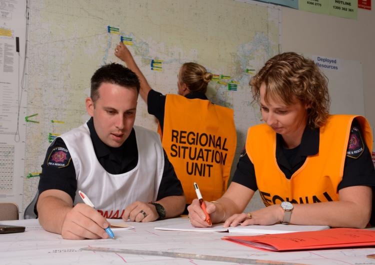 This research describes the Emergency Management Non-Technical Skills tool that can be used to enhance emergency management teamwork. Photo: SA Country Fire Service.