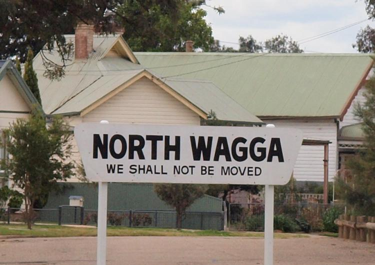 Sign in North Wagga, NSW. Photo: Caroline Wenger