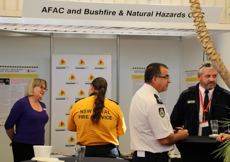 CRC and AFAC booth at NSW RFS Leadership Forum 2015