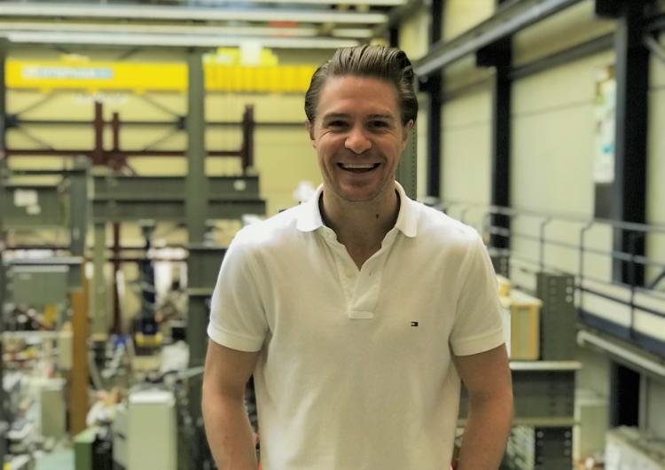 Dr Ryan Hoult at the Ecole Polytechnique Federale de Lausanne.