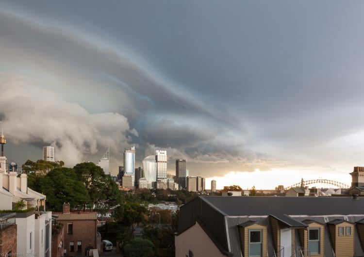 Sydney storm front. Photo: cksydney (Flickr)