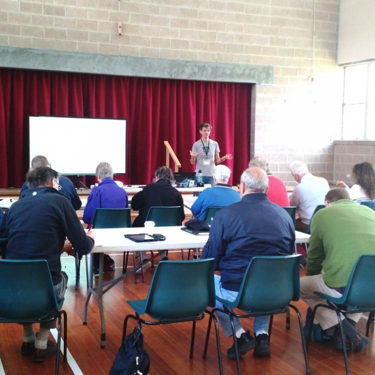 Research workshop in Tasmania