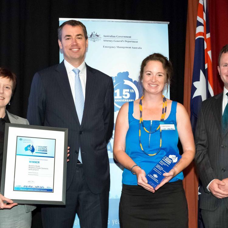 TFS accept their Resilient Australia Award