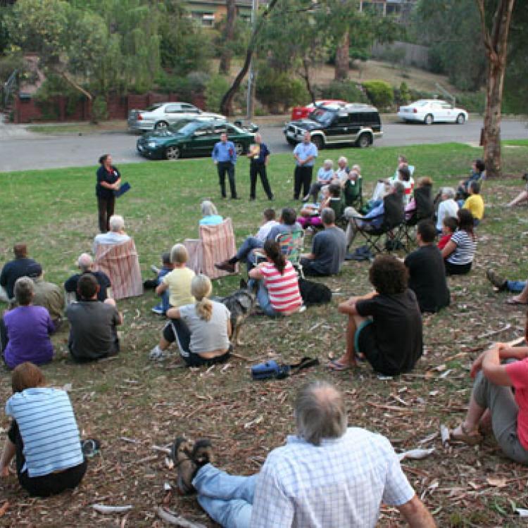 Community fire meeting