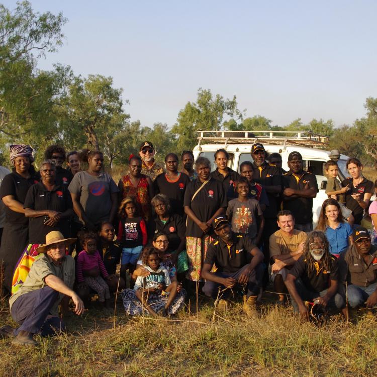 Workshop participants at Ngukurr.