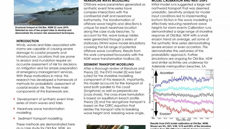 Improving resilience to storm surge hazards: assessing risk through wave simulations, shoreline modelling and field observations