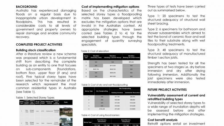 Cost-effective mitigation strategy for flood prone buildings