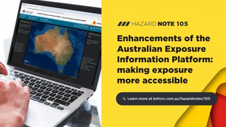 Hazard Note 105 - Enhancements of the Australian Exposure Information Platform: making exposure more accessible