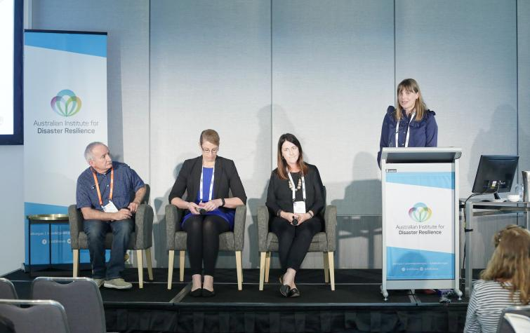 Dr Briony Towers speaking at AFAC18 in Perth