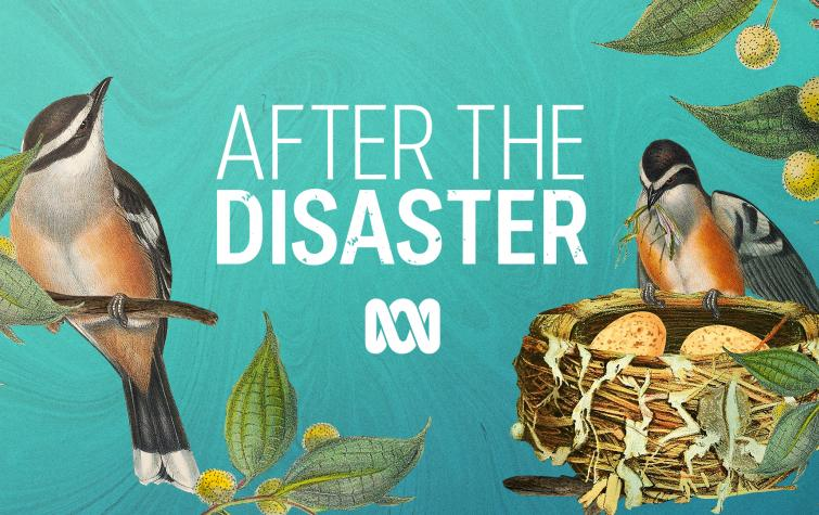 After the Disaster podcast series, produced by the ABC. Illustration: ABC.