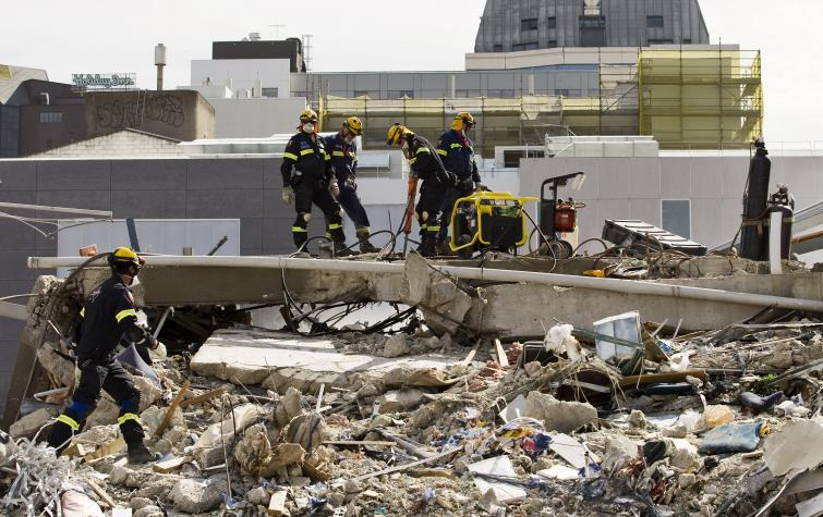 Recovery teams after the Christchurch earthquake 2011. Photo: Jo Johnson.