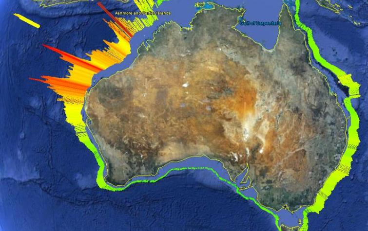 2011 National offshore Probabilistic Tsunami Hazard Assessment (PTHA). Photo: Geoscience Australia