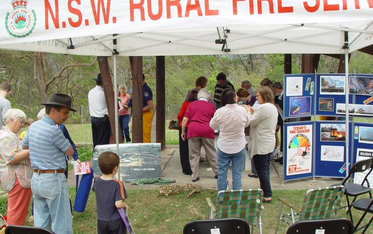 NSW RFS brigade involved at a community education event.