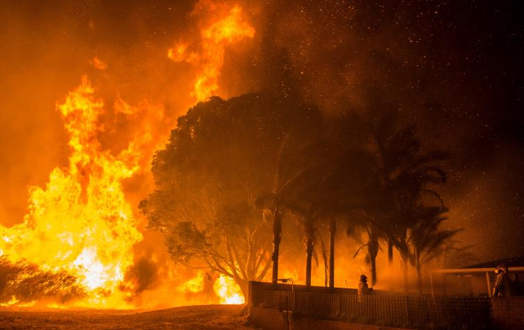 Bullsbrook fire Western Australia. Photo: DFES.