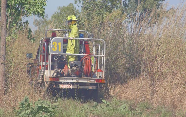 Bushfires NT unit in savanna grasslands. Photo credit: Bushfires NT.
