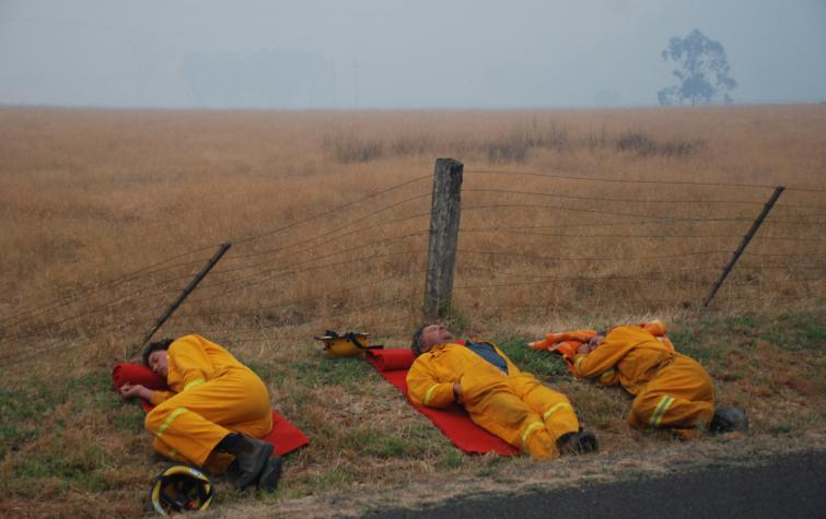 On-call CFA members. Photo: CFA
