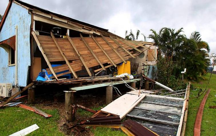 Cyclone Yasi roof damage. Photo: Cyclone Testing Station, James Cook University