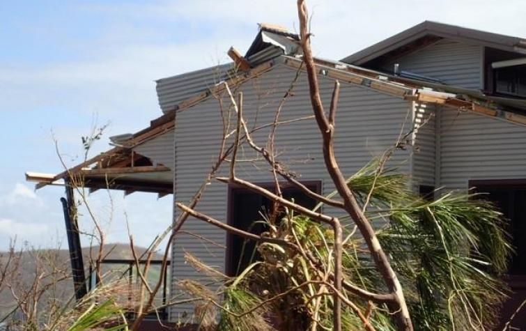 Damage from cyclone Debbie. Photo: Cyclone Testing Station, James Cook University