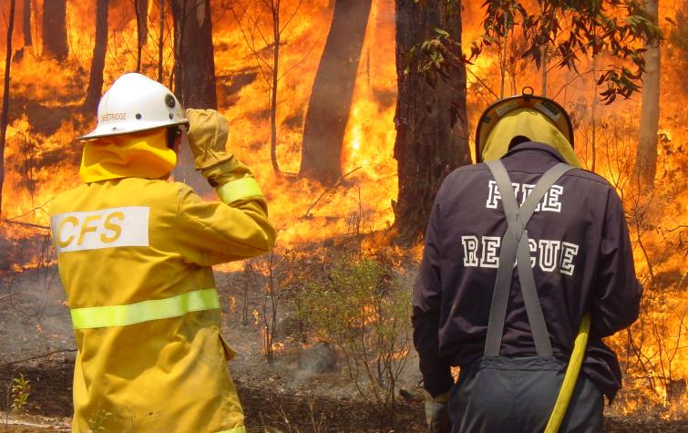 Responding to bushfire events. Photo credit: CFS.