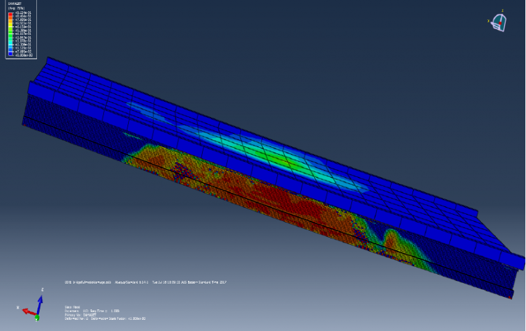 Simulation of concrete girder bridges under flood hazard. Photo: Farook Kalendher