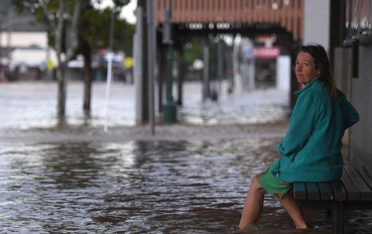 Lismore CBD is seen flooded after the Wilson River breached its banks early Friday, March 31, 2017. Photo: Dave Hunt (CC-BY-NC)
