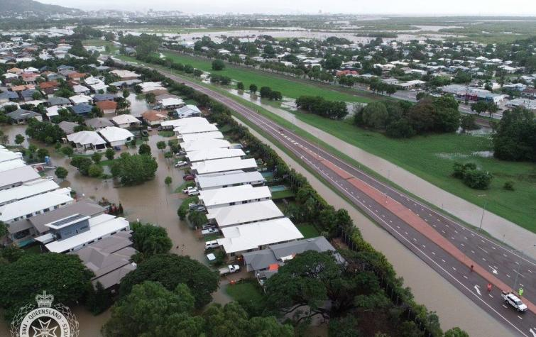 Flooding in the Townsville suburb of Oonoomba 2019. Photo: QFES.