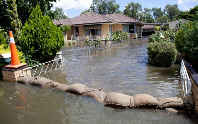 Flooded house. Photo: VICSES