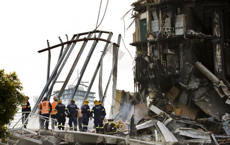 Building collapse caused by the Christchurch earthquake. Photo credit: Jo Johnston.