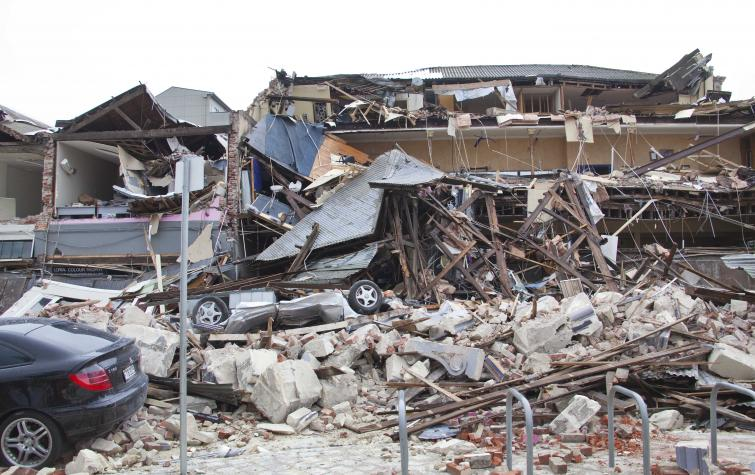 Christchurch earthquake. Photo John McCombe.