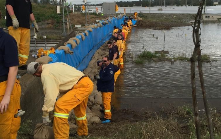 Maitland sandbags. Photo: NSW RFS
