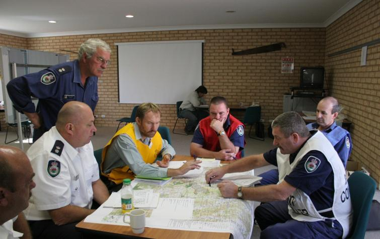 Disaster response coordinators. Photo credit: NSW RFS.