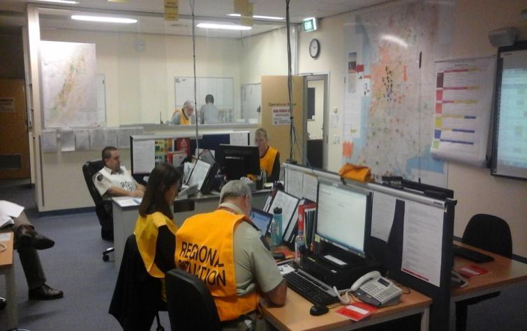 South Australian Country Fire Service Region 1 Coordination Centre. Photo: Chris Bearman.
