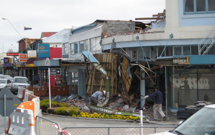 Christchurch after 4 September 2010 Darfield Earthquake. Photo: Geoscience Australia