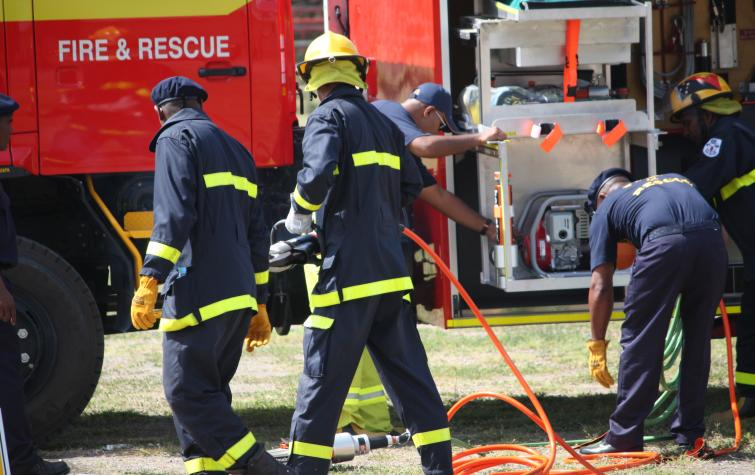 Fire and rescue excercises conducted by the Pacific Island Firefighters Services Association (PIFSA). Photo credit: PIFSA.