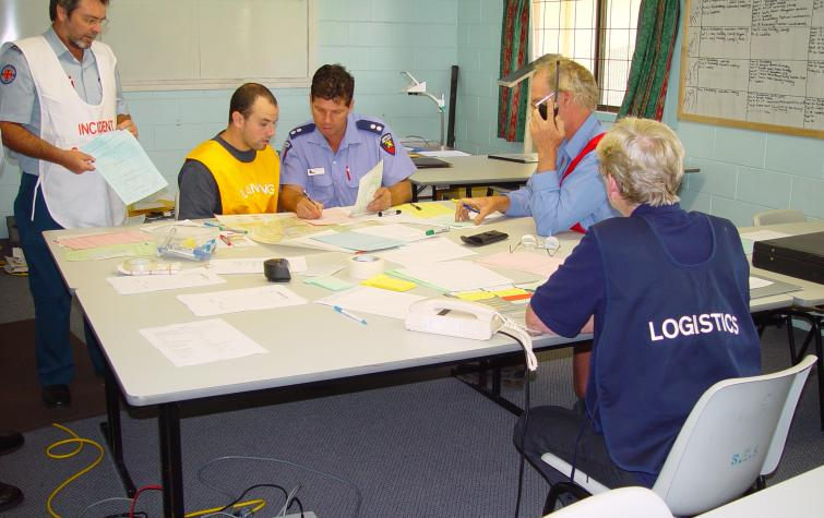 Decision making in an emergency response context. Photo: QFES.