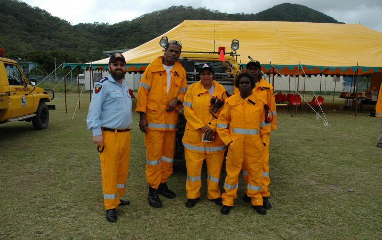 Volunteers with the Queensland Rural Fire Service. Photo credit: QRFS.