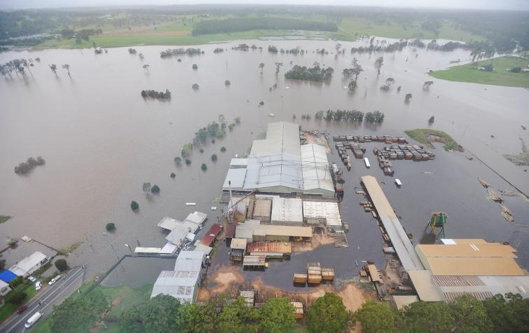 Clarence catchment, Timber Mill, South Grafton, January 2011. Photo: New South Wales State Emergency Service.