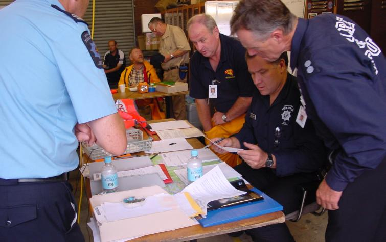 Emergency service employees. Photo credit: South Australian Metropolitan Fire Service.