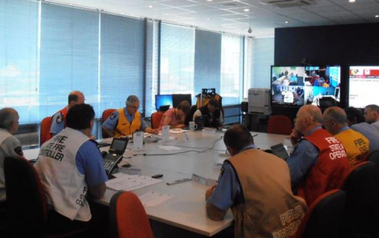 Tasmanian Fire Service State Control Centre. Photo: Chris Bearman.