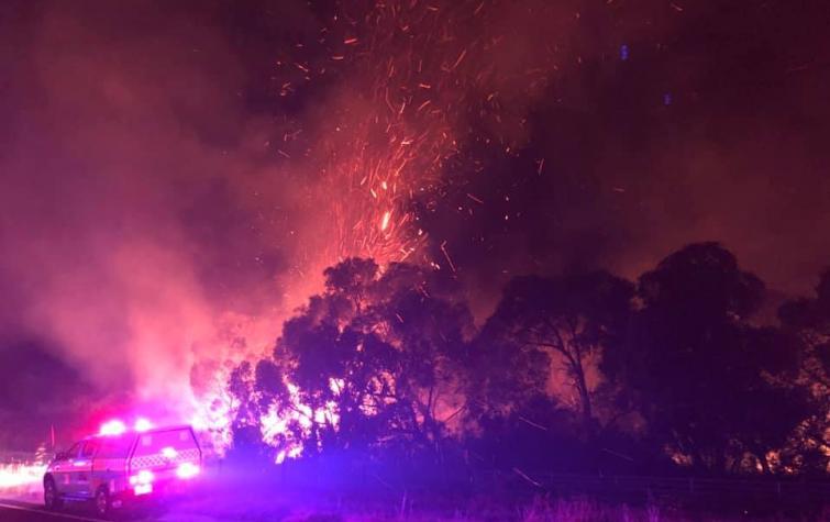 Grantville fires. Photo: Toomuc Fire Brigade.