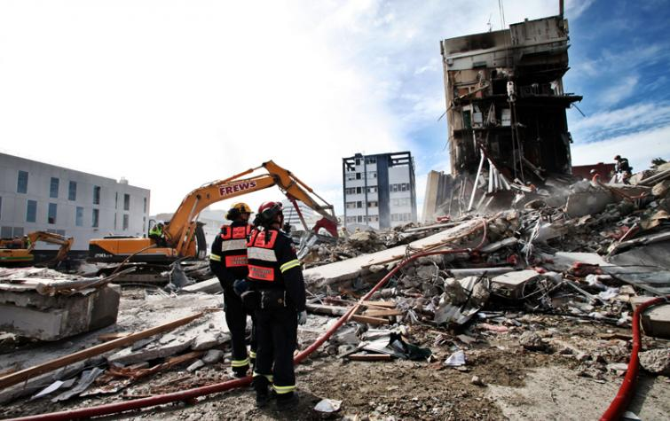 Christchurch after the 2011 earthquake. Photo: Jo Johnson.