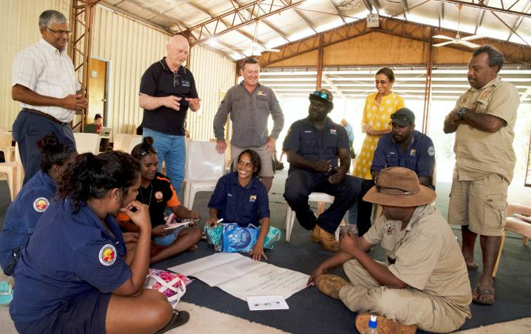 Researchers from the Darwin Centre for Bushfire Research collaborated with Indigenous community leaders and land managers to identify emergency management needs in northern Australia. Photo: Prof Jeremy Russell-Smith, CDU.