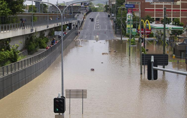 Milton Road, Brisbane, following the January 2011 floods in Queensland. Photo: Erik K Veland (CC BY-NC 2.0)