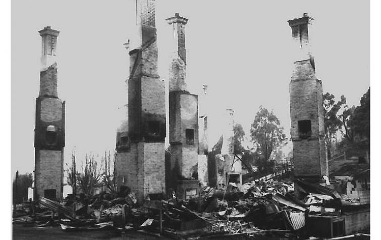 Fire impacts in Tasmania 1967