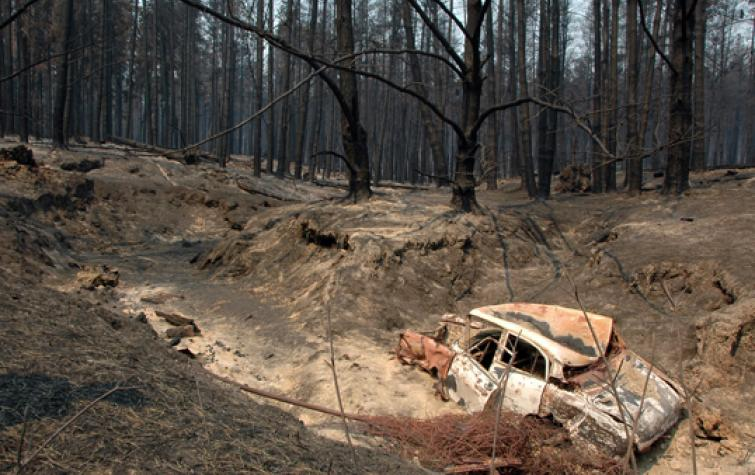 After the fire at Wandong 2009