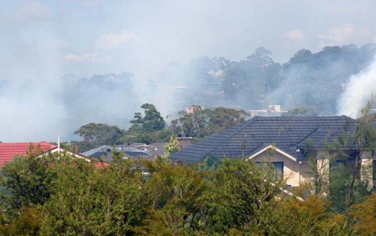 Belrose house fire. Photo: Anthony Clark NSW RFS