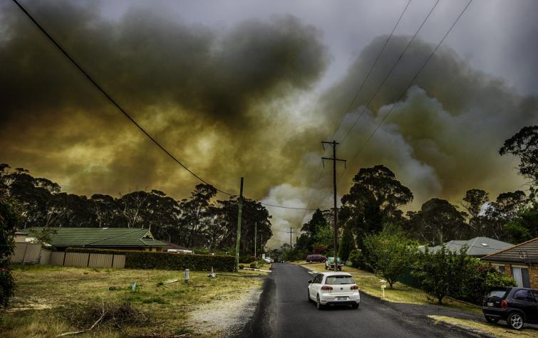 Mount Boyce fire. Photo by Gary P Hughes provided by NSWRFS