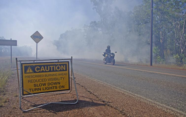 A hazard reduction burn outside Darwin in 2016. Photo: Bushfire and Natural Hazards CRC