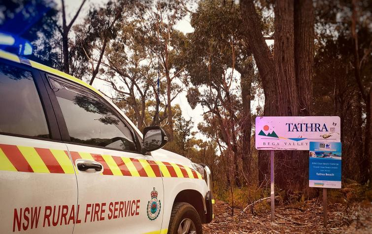 The NSW RFS at Tathra. Photo: NSW RFS